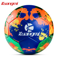 Kuangmi Football PVC Material Official Size 5 Professional Sport Soccer Ball Football training for children adults Thanksgiving