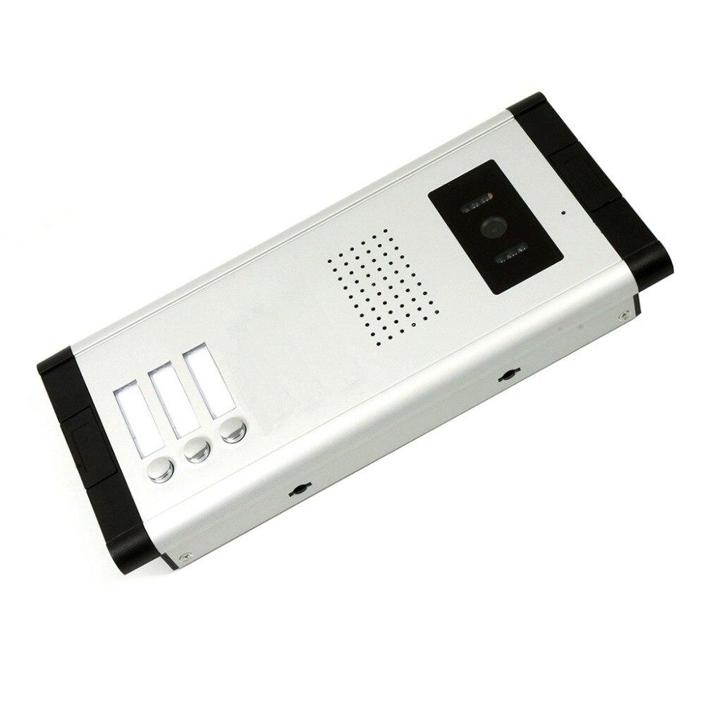 2/3/4 unidades apartamento telefone video da porta intercom sistema de vídeo campainha kit para 2 4 apartamentos casa 1 câmera 2 4 monitor - 5
