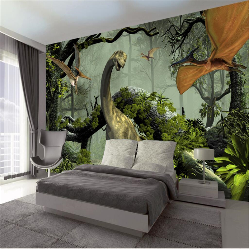 Us 885 41 Offbeibehang Wallpaper Custom Wallpaper Murals For Any Size Photo 3d Dinosaur Hentai Theme Mural Background Wall Papel De Parede In