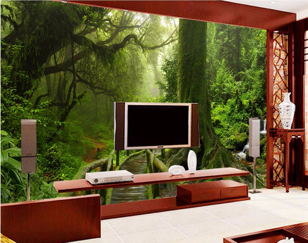 Custom mural photo 3d room wallpaper Tropical rain forest home decoration painting picture 3d wall murals