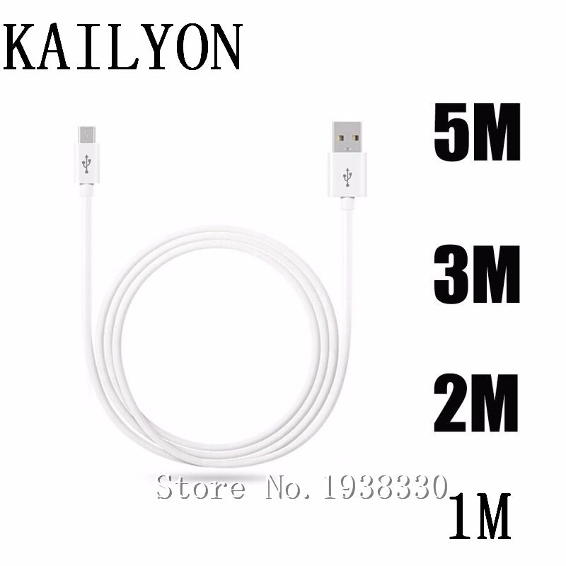 Micro Cable For Samsung Galaxy J2 J3 J5 J7 Prime On5 2016 On7 USB Cable Data Cable Mobile Phone Sync Charging Cables 1m 2m 3m 5m