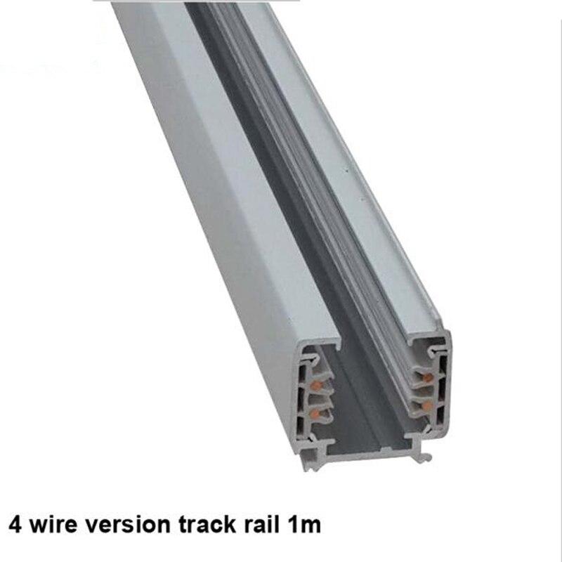 Fanlive 5 pcstrack 레일 3 상 회로 4 와이어 led 트랙 라이트 레일 조명 글로벌 트랙 시스템 레일 트랙 램프 레일 1m-에서트랙 조명부터 등 & 조명 의 Shenzhen Led save-energy lighting Co.,ltd