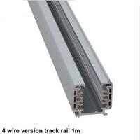 Fanlive 5pcsTrack Rail 3 Phase Circuit 4 Wire LED Track Light Rail Lighting Global Track System Rails Track Lamp Rail 1m