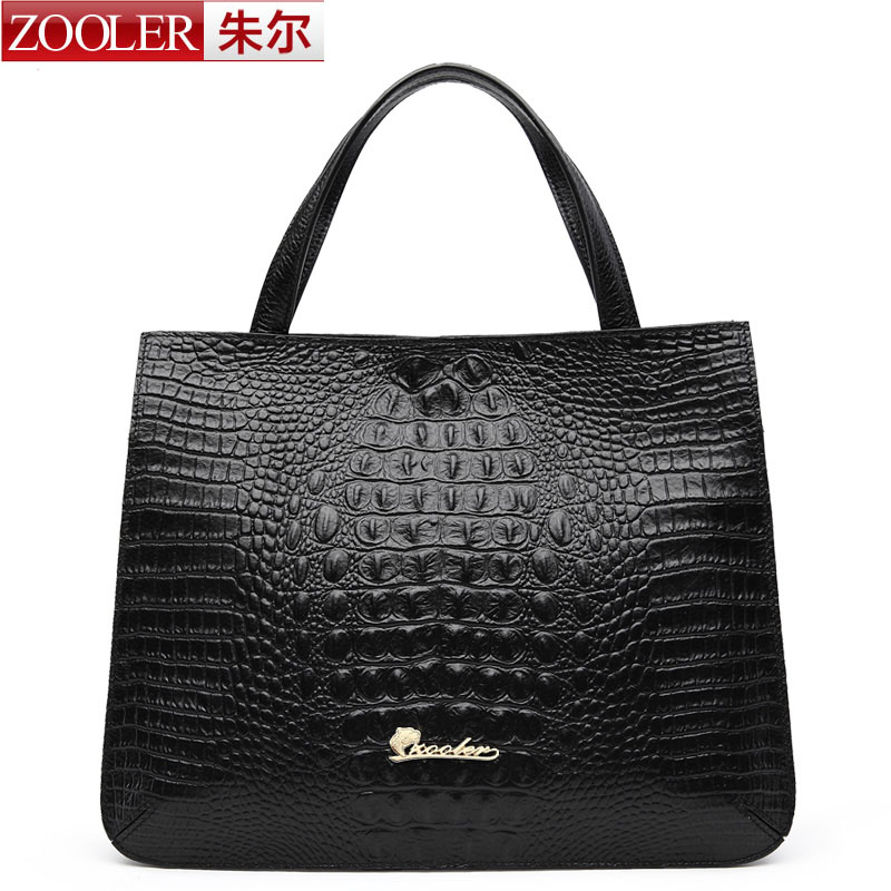 ФОТО ZOOLER Women Bag 2016 High Quality Top-Handle Bags Women Leather Handbags Shoulder Bag Elegant Black color  Bolsa Feminina