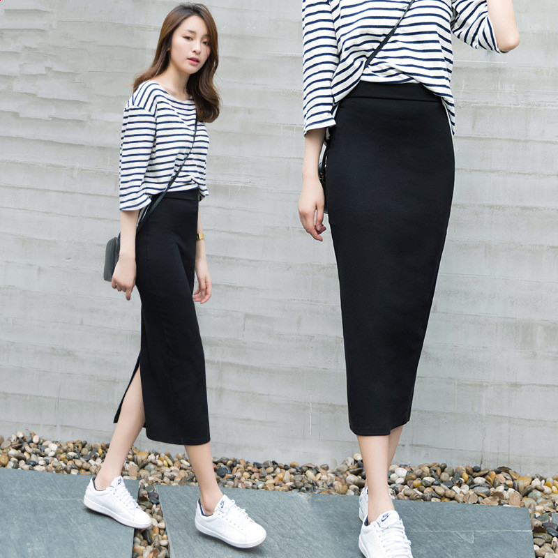 Popular Long Tight Black Skirt-Buy Cheap Long Tight Black Skirt ...