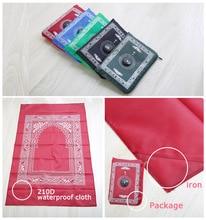 Yeni müslüman seccadesi cep seccade pusula ile 4 renk DHL Fedex ücretsiz kargo