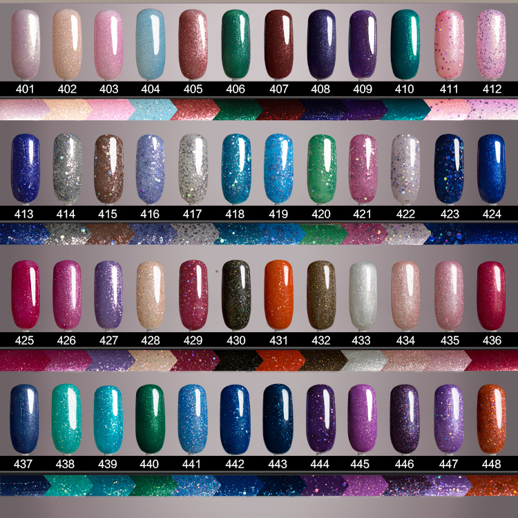 Smartly Hot sale uv gel color 108 colors for choice Glitter Shimmer ...