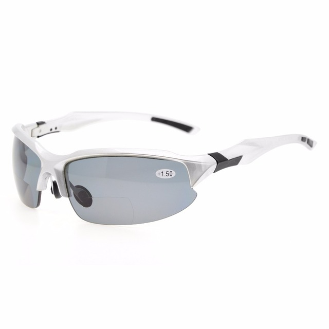 TH6188 Bifocal Eyekepper TR90 Unbreakable Sports Sunglasses Bifocal Sunglasses Half Rimless Reading Glasses