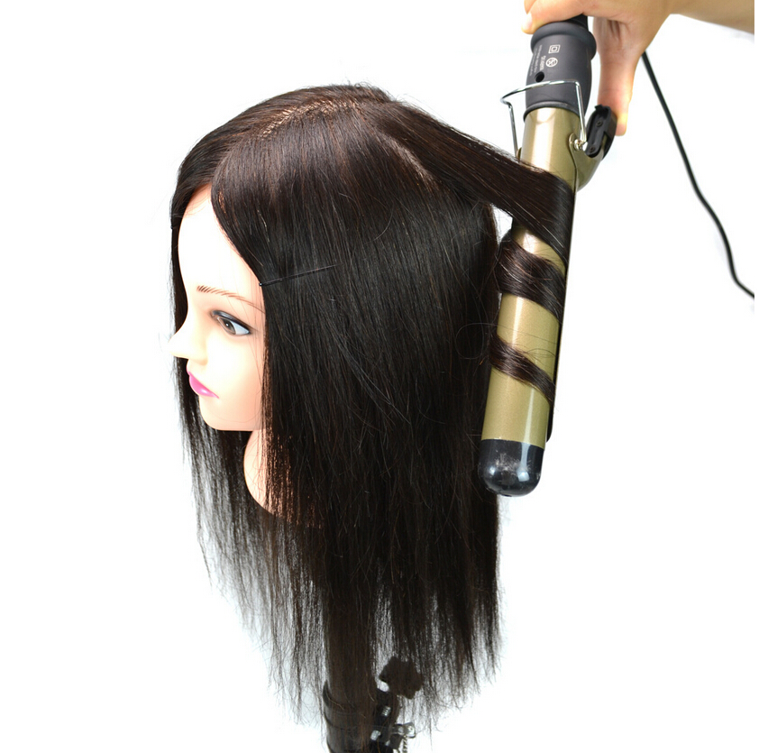 100% hair Practice Hairdressing Training Head Mannequin training head human hair training head