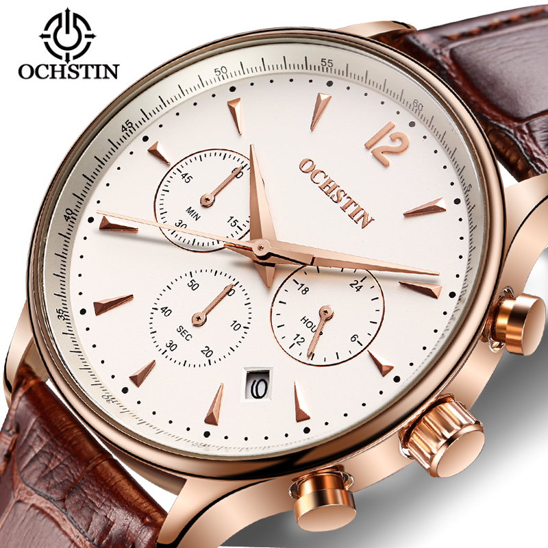 Mens Watches Top Brand Luxury rose Gold Quartz Watch Men Business Clock Fashion Leather Waterproof Sport Watch Relogio Masculino redear top brand wood watch men women wooden watches japan miyota fashion watch leather clock relogio feminino relogio masculino