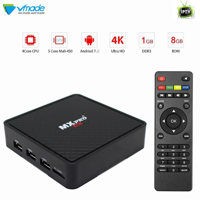 Vmade Smart TV Box Android 7 0 1GB 8GB Allwinner H3 Quad Core HD 4K WIFI  Google Media Player Support IPTV Netflix Youtube