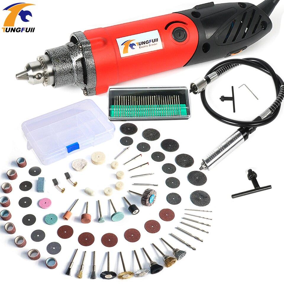 Tungfull 500 W Mini taladro eléctrico para Dremel estilo metal máquina de perforación pulido máquina grabador eléctrico