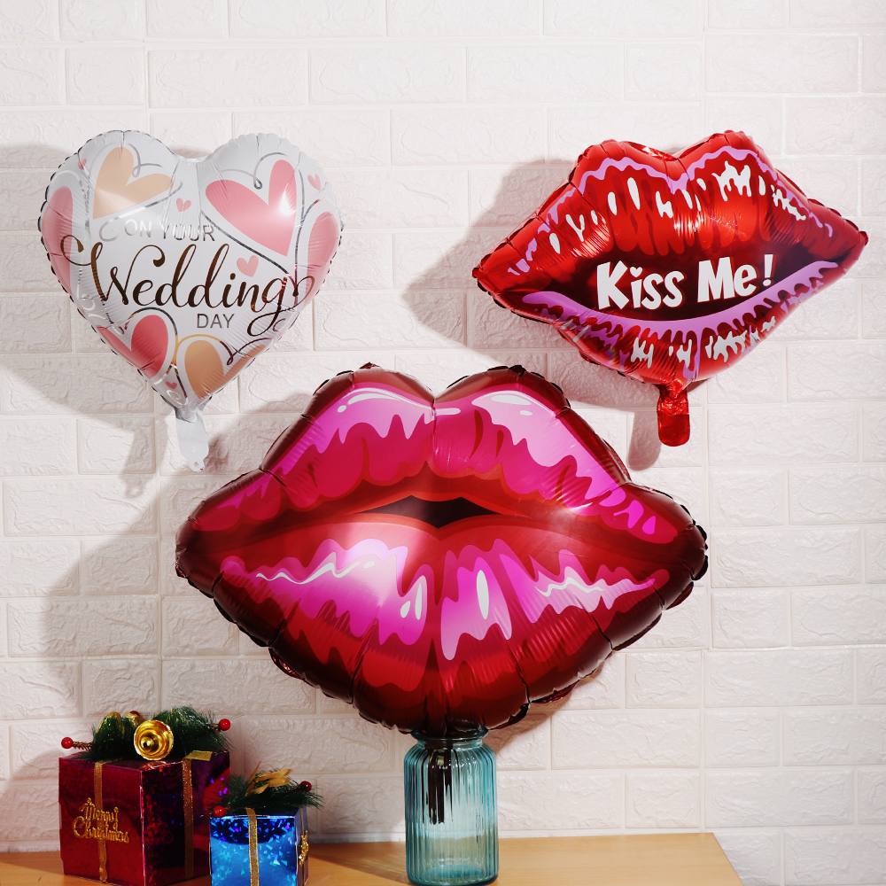 Hen Party Inflatable Foil Balloon Willy Penis Mustache Red Lips Decoration