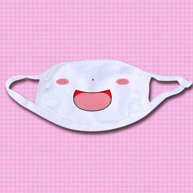 iMucci 1Pc Kawaii Anti Dust mask Kpop Cotton Mouth Mask Cute Anime Cartoon Mouth Muffle Face Mask Emotiction Masque Kpop Masks 3