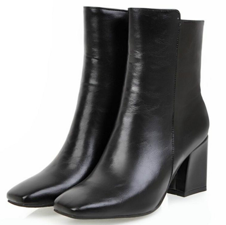 Caviglia Grosso Scarpe Xz181286 Gladiatore Pompe black Stivali Donne Tacchi Sapato Donna Della Da Chaussures Ragazza Lusso Di Stivaletti White Alti Delle Cuoio red Feminino UzxYRt