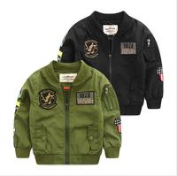 Spring Autumn Jackets for Boy Coat Bomber Jacket Army Green Boy's Windbreaker Winter Jacket Print Kids Children Jacket