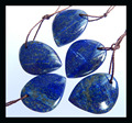 Sale 5 Piece Natural Stone Blue Lapis Lazuli Pendants,20*15*4mm,10.4g semiprecious stone necklace beads jewelry accessories
