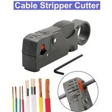 Coaxial hogar Multi herramienta Cable cortador doble ajustable cuchillas RG6/59 de Stripper automático cortador de Cable alicates