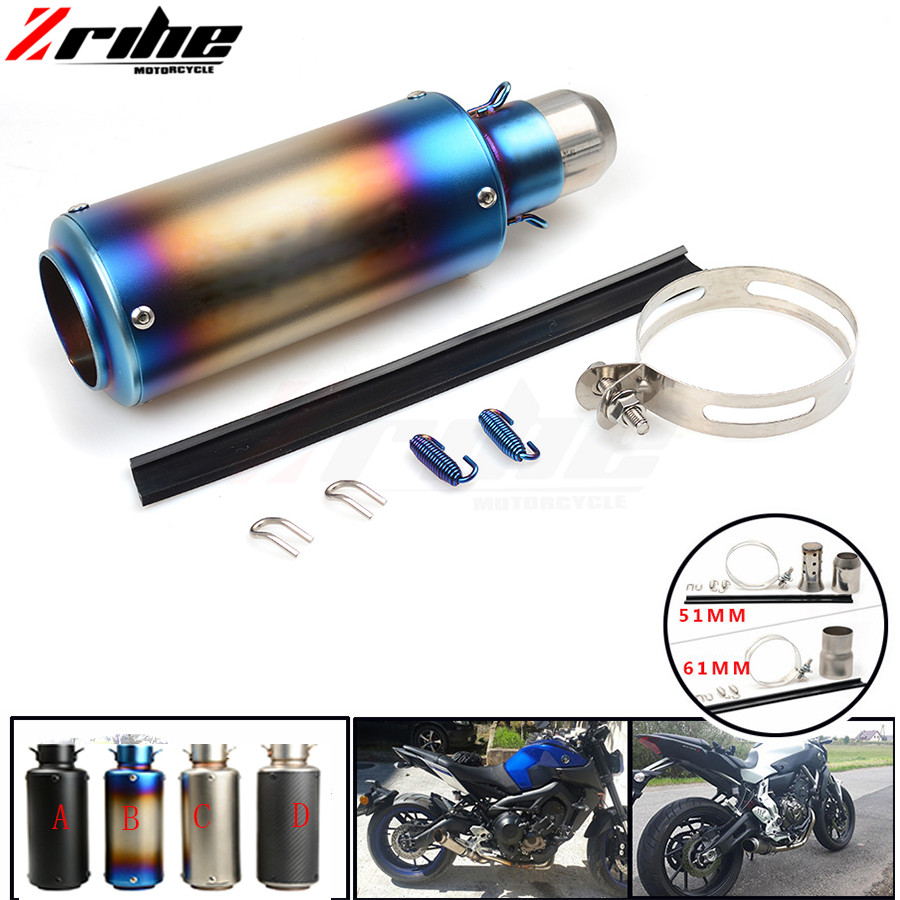 For 36-51  61mm Motorcycle Exhaust Pipe Scooter Modified Muffler Pipe Universal For Ducati 796 696 400 620 695 MONSTER 620 MTS