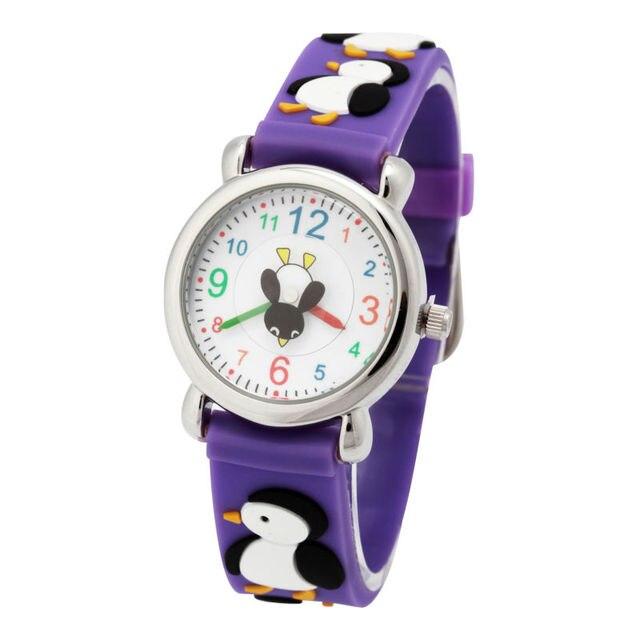 free shipping Brand Quartz Wrist Watch Baby penguin Waterproof Kid Watches Child