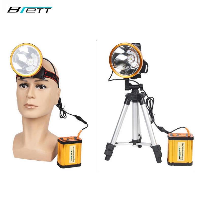 Reflektor CREE XHP70 Super jasna biała lub żółta lampa opcjonalnie wbudowana bateria 8*18650 akumulatorowa lampa led reflektor