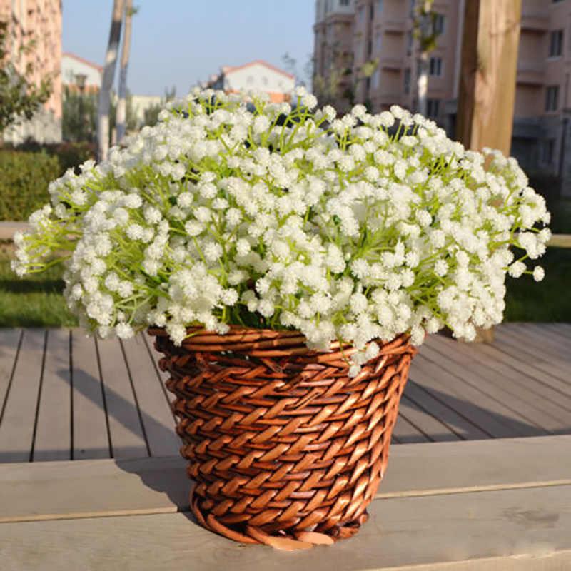 1Pcs สีขาวทารก Breath ดอกไม้ประดิษฐ์ Gypsophila ปลอม DIY ช่อดอกไม้จัดดอกไม้งานแต่งงานประดิษฐ์ดอกไม้