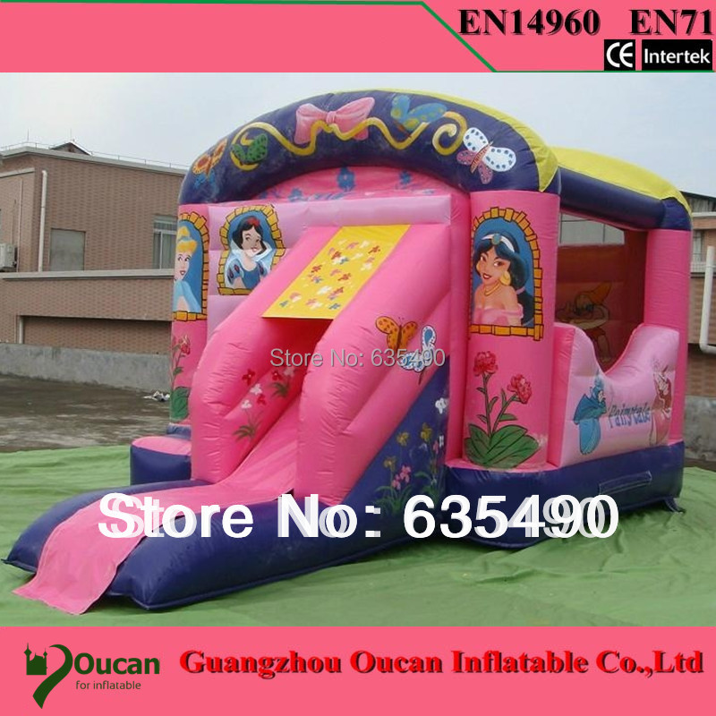 PVC5x4.4x4m tarpaulin inflatable bouncers with slide for kids and baby