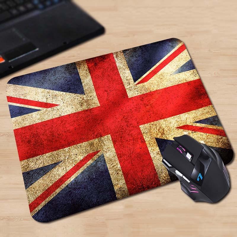 Babaite Pattern Soft Non-Skid Rectangle British Flag Vintage Stylish Gaming Gamer Comfort Mousepad for Optical Laser PC Mouse