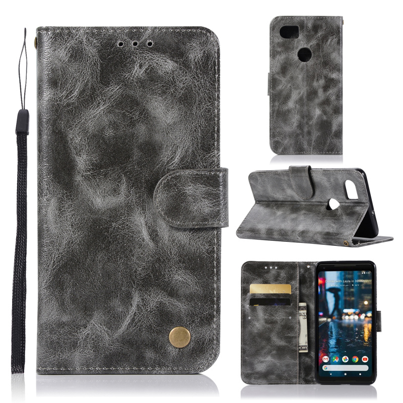 For Google Pixel2 XL Case Retro Style Stand Flip Wallet PU Leather...