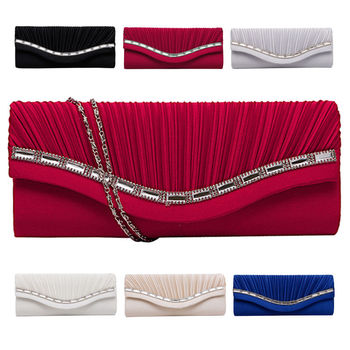 Fashion Women Rhinestone Handbag Evening Party Clutch Bag Wedding Wallet Purse new soft diamond silver chain woman evening bag women rhinestone crystal day clutch lady wallet wedding purse party banquet