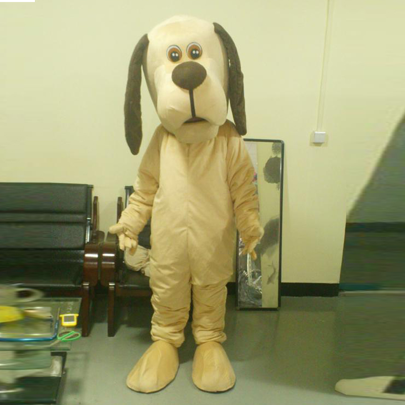 Ohlees réel photo chien chien mascotte Costume adulte taille tenue en peluche poupée fantaisie robe