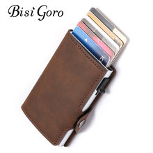 BISI GORO 2019 Unisex Card Holder Wallet Vintage RFID Slim Business Anti-theft Drop-shipping