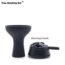 Glass Smoke Hookah Black Bowl Narguile Nargile Smoking Pipe Shisha Accessoriesca Kaloud Chicha TWAN0356