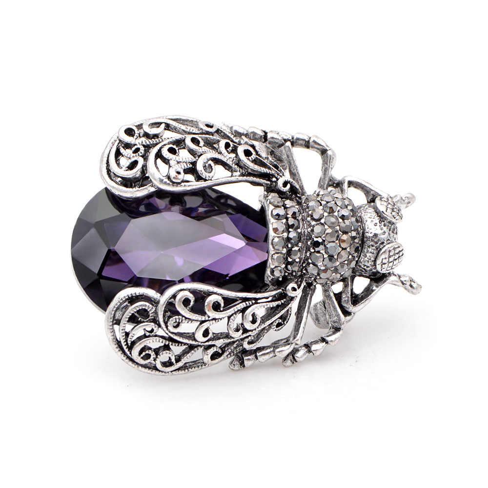 CINDY XIANG, 3 цвета на выбор, броши в виде жучка с кристаллами для женщин, винтажная модная брошь в виде жука на булавке, стильная брошь высокого качества