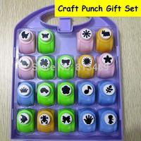19pcs Set Craft Punch Set Paper Cutter Furador Scrapbook Perfurador Diy Puncher Cortador Paper Punches For