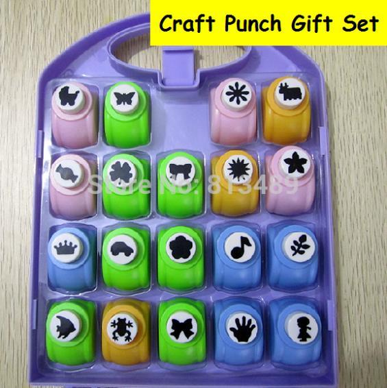19pcs Set Craft Punch Set Paper Cutter Furador Scrapbook Perfurador Diy Puncher Cortador Paper Punches For Scrapbooking Hole 568