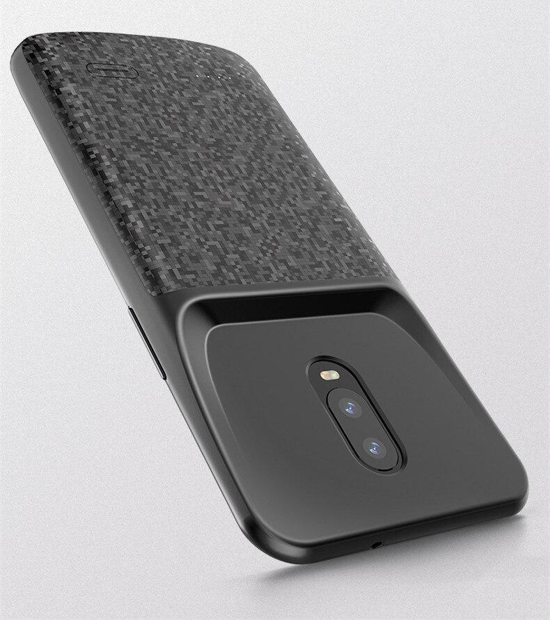 Boîtier d'alimentation 4700 mah pour OnePlus 6 T boîtier de chargeur de batterie chargeur de secours externe batterie externe coque de téléphone de charge Capa
