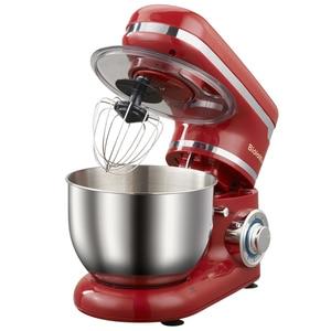 Image 4 - 1200W 4L led ışık 6 speed mutfak elektrikli gıda tezgah mikseri çırpma Blender kek hamur ekmek karıştırıcı makinesi
