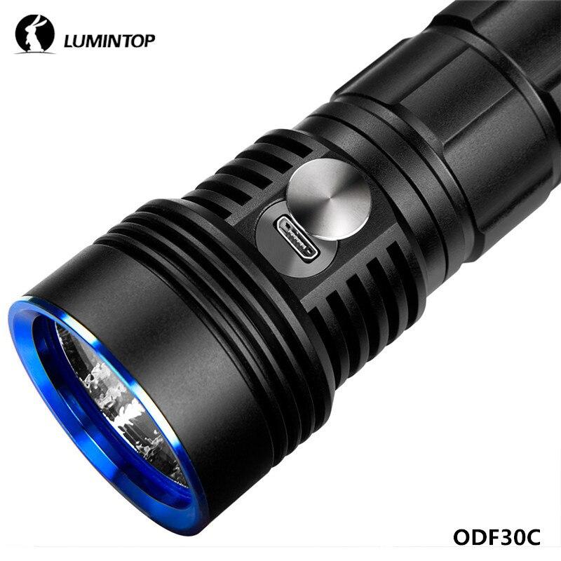 LuminTop ODF30C XHP 26650 3500lm Cree Recarregável Holofote de Alta Intensidade Lanterna de Acampamento Caminhadas Ao Ar Livre com Strobe SOS - 4