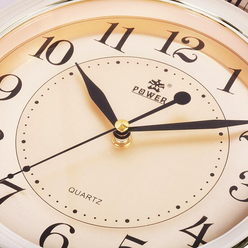 16 дюймов, современные бесшумные настенные часы с точным механизмом, ежечасный музыкальный колокольчик и яркие часы, офисные кварцевые часы,... - 5