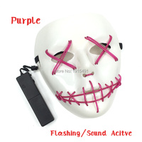 For DIY Toy Craft Decor Led Neon Camouflage Monster Mask Concert Holiday Lights EL Cable Rope
