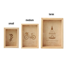 1PC Creative Wooden Picture Photo Frame Home Decoration DIY Wood Photo Frame Wedding Mini Pictures Frames(China)