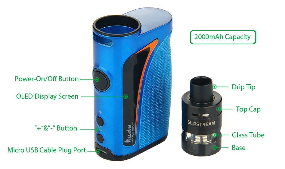 Innokin iTaste Kroma Vape System Kit - 2000mAh 4