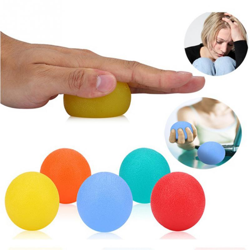 Silicone Massage Therapy Grip Ball For Hand Finger Strength Exercise Stress Relief