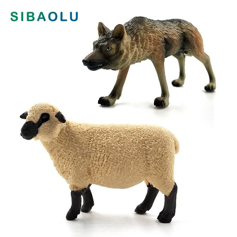 Wolf Sheep Simulation Animal model figurine home decor miniature fairy garden decoration accessories modern figure statue toys figurine