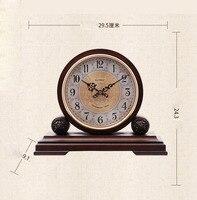 Творческий декоративные настольные часы Европейский Гостиная Mute Спальня стол ретро дерево большие часы Простой кварцевые часы Аксессуары