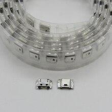 50 Stks/partij Micro Usb Opladen Dock Port Socket Voor Samsung J5 J500 SM J500 J1 J100 SM J100 J3 J300F J7
