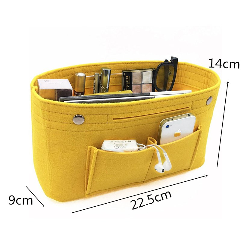 7a8ce67aa79 LHLYSGS Obag Felt Cloth Inner Bag Women Fashion Handbag Multi pockets  Storage Cosmetic Organizer Bags Luggage Bags Accessories-in Bag Parts    Accessories ...