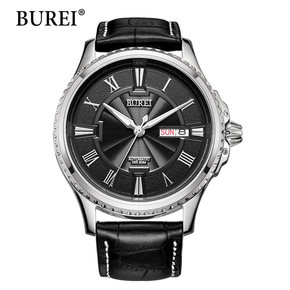 Hot Sale BUREI Mens Watches Top Brand Luxury Sapphire Glass 30M waterproof Automatic Mechanical Watch Men Fashion Sport Watch цена