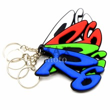 4 colors optional motorcycle accessories soft rubber motorcycle key ring motorbike keychain for yamaha YZF R6